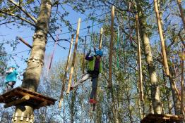 Częstochowa Atrakcja park linowy Dinolino